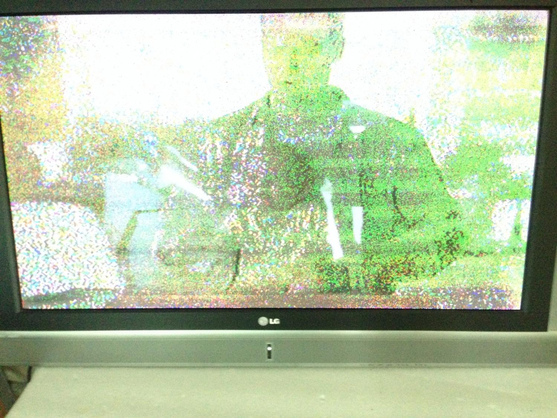 Изображение с помехами на телевизоре LG