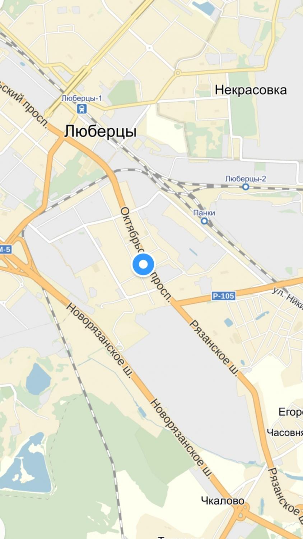 город Люберцы на карте