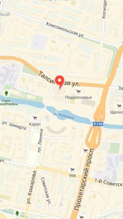 карта Щелково
