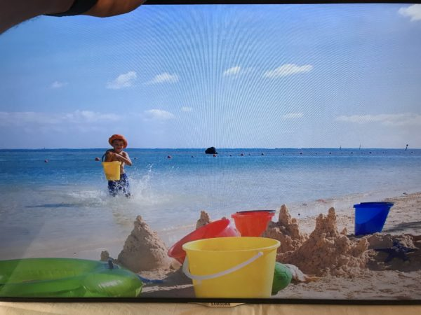 Изображение на телевизоре Samsung