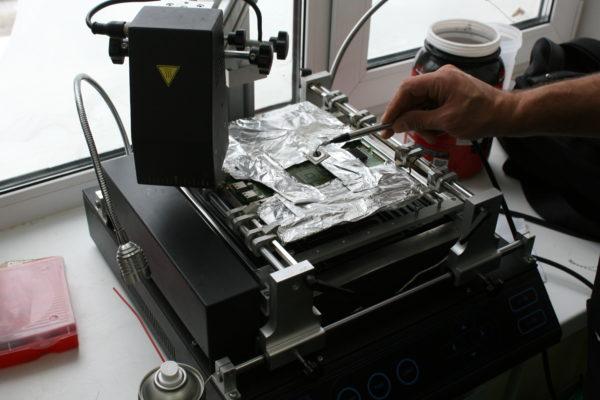 Демонтаж процессора