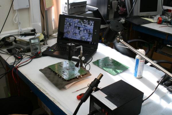 ремонт платы телевизора Филипс